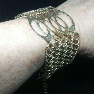 Futuristic Gold Bracelet Multi Link Chain